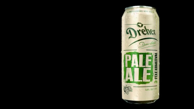 A can of Dreher Pale Ale on a black background